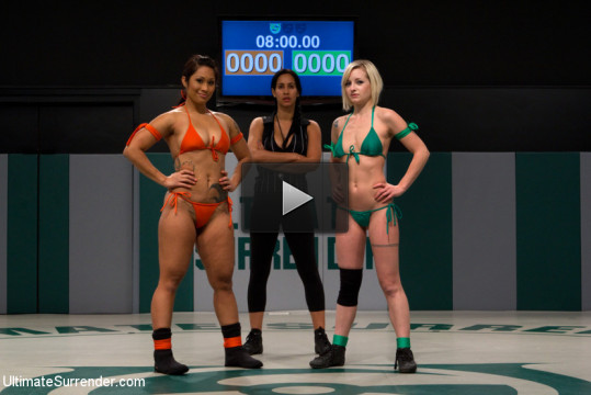 Tiny blonde is overpowered, dominated, and made to cum on the mat multiple times. Dragon Rules!