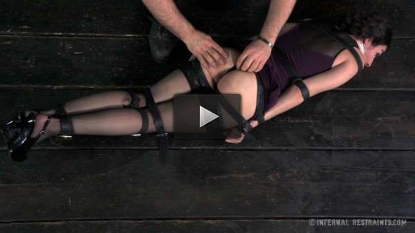 Haley Rue Gets bound, Spanked, Gagged, Whipped, Suspended and Vibrated