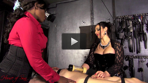 Mistress Ezada Sinn & Mistress Ava Black — Milking Machine