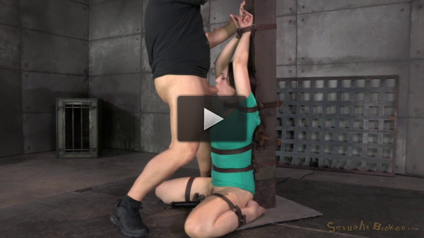 Sexy Sarah Shevon Belted Down And Throatboarded