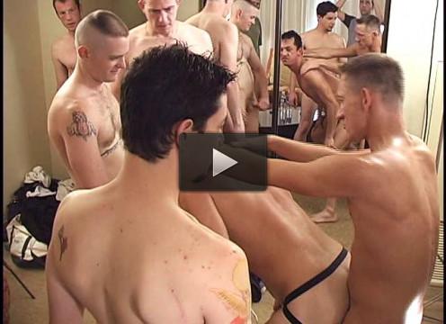Brutal mature men in hard orgy