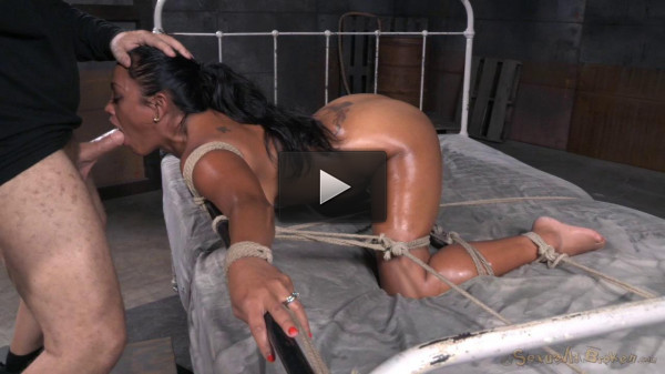 Exotic Maxine X tied face down ass