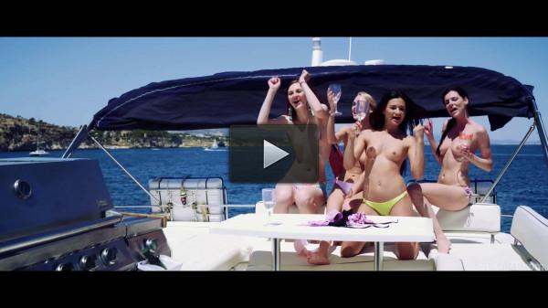 Margot A, Nancy A, Rosaline Rosa — Party Boat Part 1 FullHD 1080p