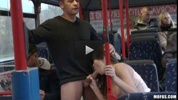 Stuck to the beauty of the bus and fucked her hot