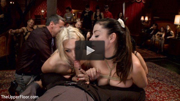 Two Gorgeous Slaves Fight For Cock