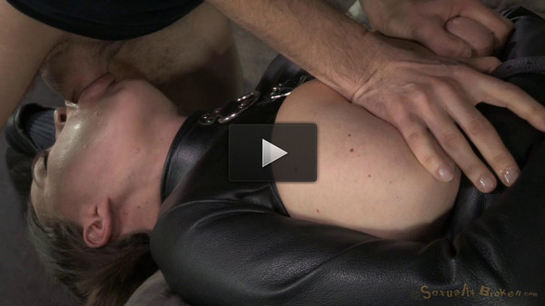 Krissy Lynn's Booming Breasts And Butt Straightjacketed And Roughly Fucked !