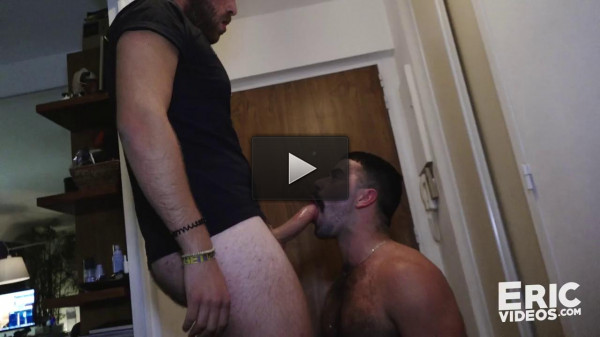 Teddy waits for his trick on his knees (handsome guy, handsome, guy who, dick)