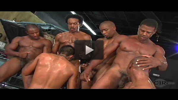Interracial Gangbang In Garage