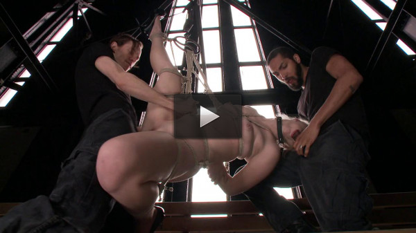 Young Slut takes 2 Massive Cocks — Only Pain HD