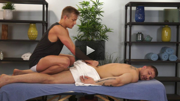 Austin Wolf and Skylar West in a hot Gay Porn Massage