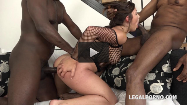 Alexis Cherry blacked and Dped in hard interracial threesome (2016)