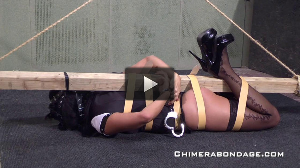 CHB — Swollen Pussy After Fucking Her Dildo in Bondage