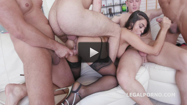 Hot Middle East Slut In Gangbang WIth DP & DAP
