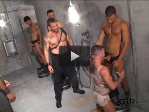 Golden Orgy With Brutal Men