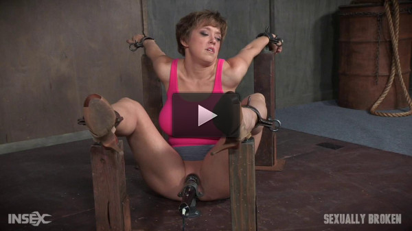 Dee Williams Bound For Face Fucking With Vibrator Wedged Between Her Legs