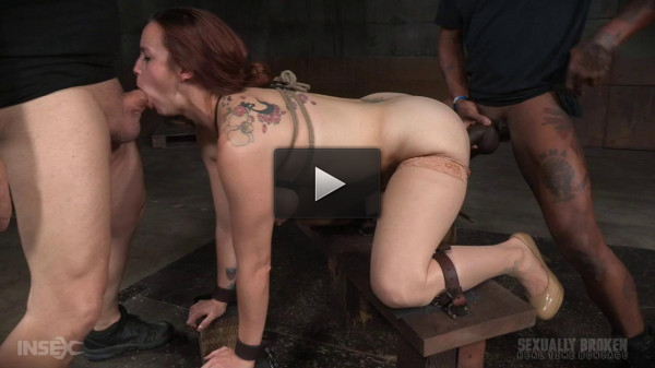Bella Rossi BaRS show continues with rough doggy style fucking and drooling BBC deepthroat!