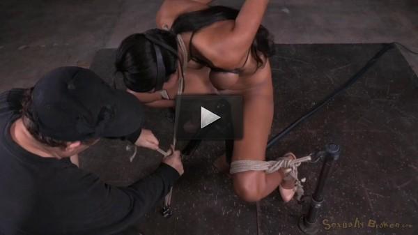 Sadie Santana Strictly Restrained In Brutal Bondage, Multiple Orgasms, Drooling Deepthroat!