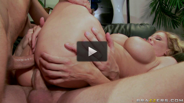 Blonde Milf Fucks Them Both In The Apartment