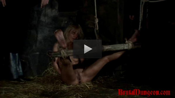 Prostitute Endures Wax Foot Torment — BrutalDungeon