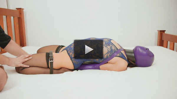 Lace Bodysuit & Purple Armbinder