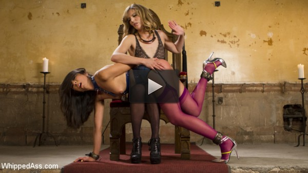 Submissive Lesbian Sex Toy: Spanking, Fisting & Anal Strap-on!
