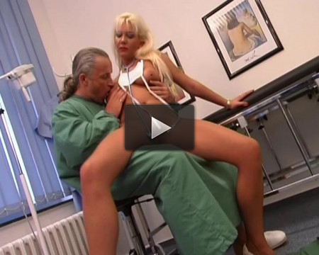 Nurse's huge sex toy