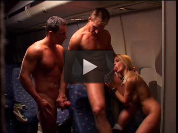 The stewardess on the plane involved in an orgy