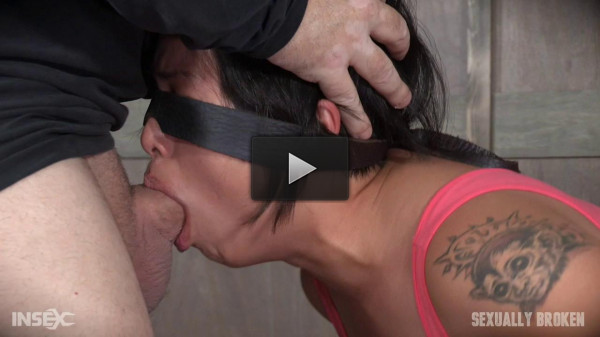 Sexy Asian Milcah Halili is bound and brutally face fucked(part 1)