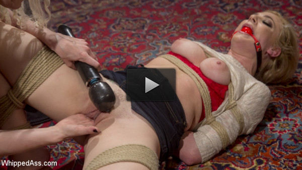 Blonde Bombshell bound, spanked and anally fisted!