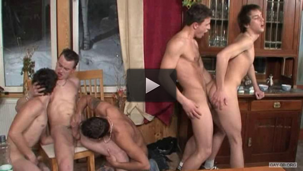 Teen Creamers In Orgy