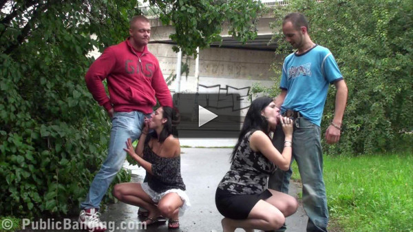 Public Orgy On The Street With Pregnant Woman And Cute Petite Girl (1080)
