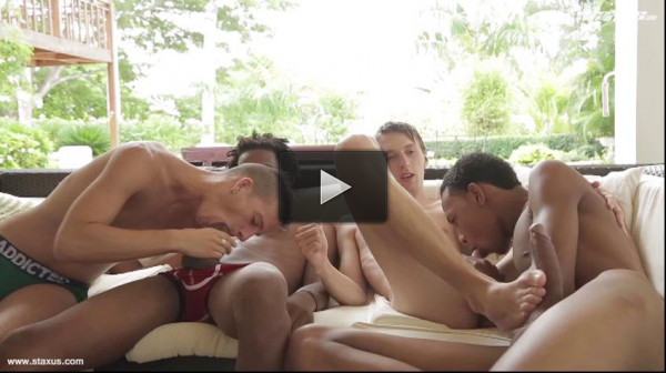 Hot Twinks In Amazing Orgy