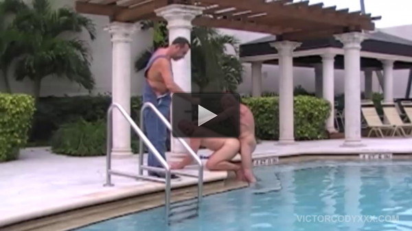 watch gay bareback (A Look Behind Pool Pounding).