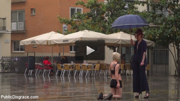 Eager Bitch Spanked And Flogged In The Rain! — Part 1