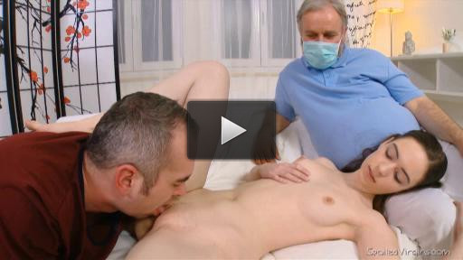Hung stud, virgin pussy, professional doctor. What results with this combination? Bliss.