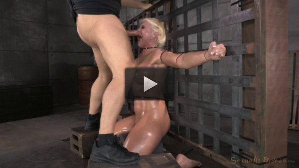 Big Titted Blonde Leya Falcon Ziptied