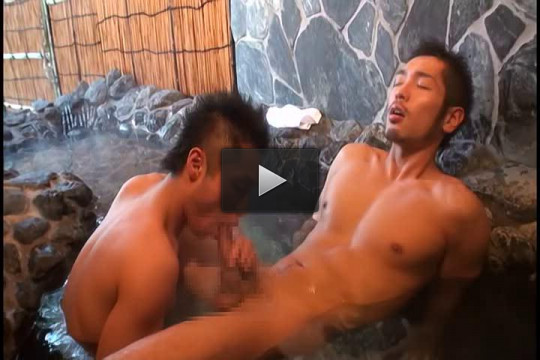 Sexy Guys Make Love at Hot Springs — Hardcore, HD, Asian