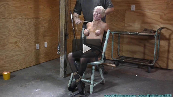 Thighs Spread Chair Tie for Amanda Fox 1 part — BDSM, Humiliation, Torture HD — 720p
