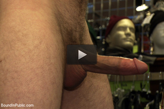 19 year old stud with a giant cock gets used and humiliated in public