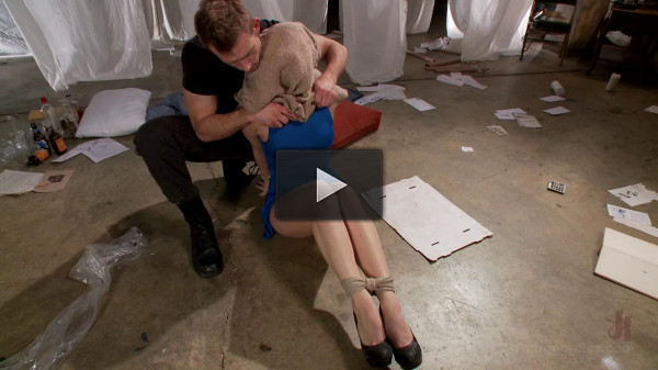 Hot blonde is fucked in tight bondage — Only Pain HD