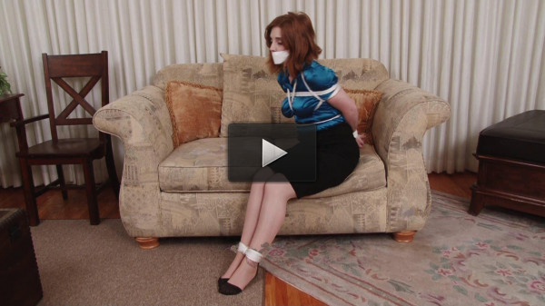Ginger Sparks Bound in Girdle and Stockings
