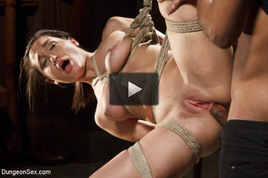 Chained, Tied, and Ass Fucked with a Massive Cock!