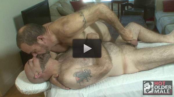 Gay — Hot Older Male — Bears with Big Wood- Daddy Bear Massage — Stephen Edwards, Tim Phillips