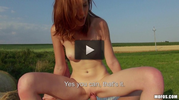 This Young Redhead Babe Take His Cock Balls Deep