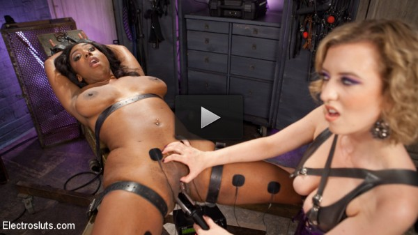 Lisa Tiffian vs. Cherry Torn: Anal Slut Loves First Time Electro Sex!