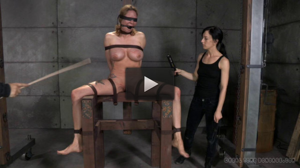 Rain DeGrey Gets Covered In Clothes Pins and a Brutal Double Wrist Suspension
