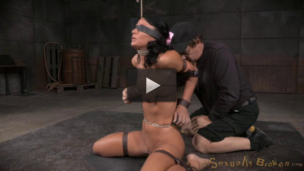 London River Gives Her First Blowjob In Bondage