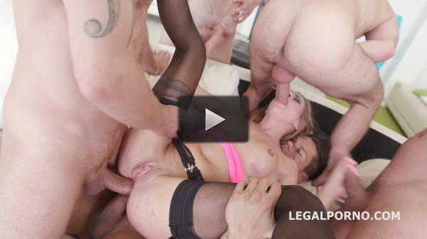 5on1 Hardcore Orgy For Blond Slut