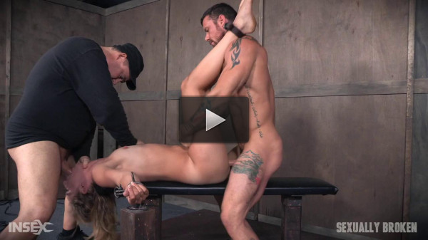 Hot Domme Mona Wales, is bound down brutally dicked down, rough face fucking O's (2016)