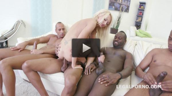 Black Busters 5 on 1 Lo la Shine interracial Dp Dap Gapes Skinny one gets Bbc gangbang (2016)